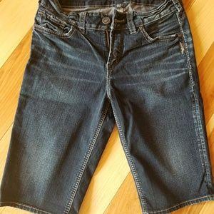Silver Jean suki Bermuda shorts